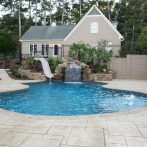 Custom Pool, Spa and Fireplace